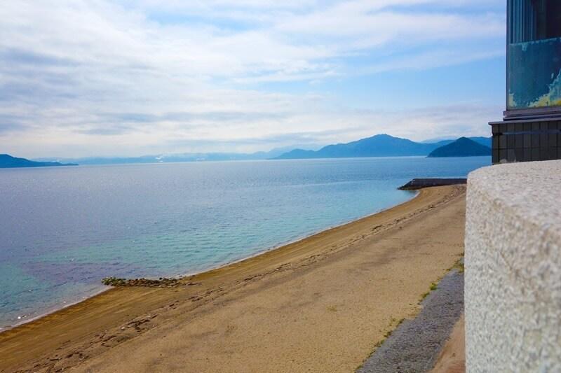 サンビーチおきみから臨む宮島