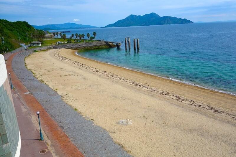 サンビーチおきみから臨むビーチの展望