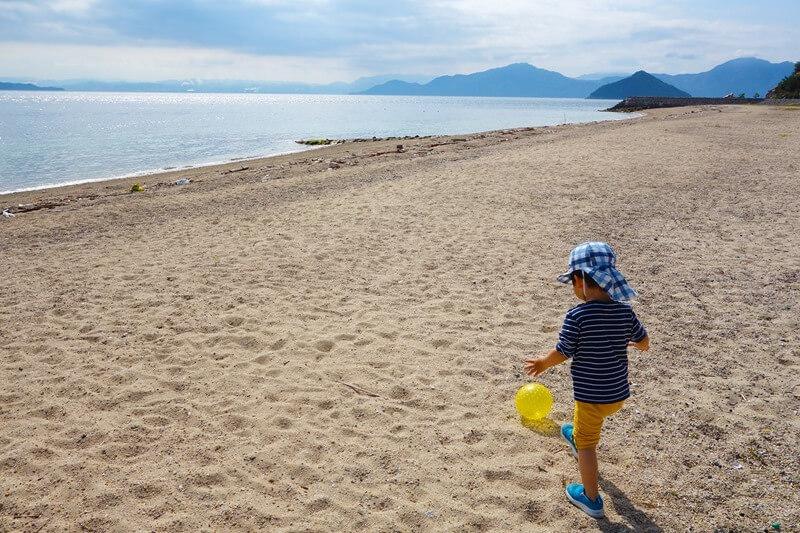 サンビーチおきみ前の広々したビーチ