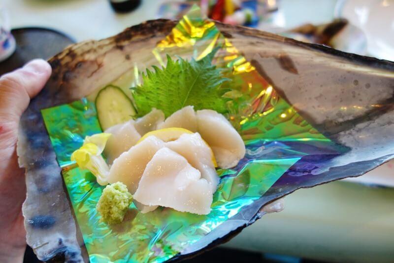サンビーチおきみの夕食で出てきたタイラギ貝