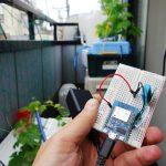 IoT実験→現在のベランダの気温モニタリング中