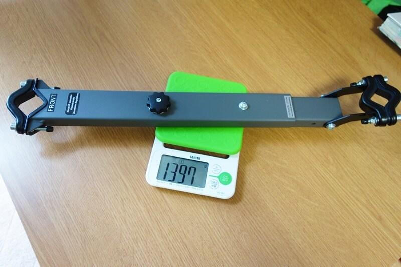 weerideのフレーム部を重量計測している様子