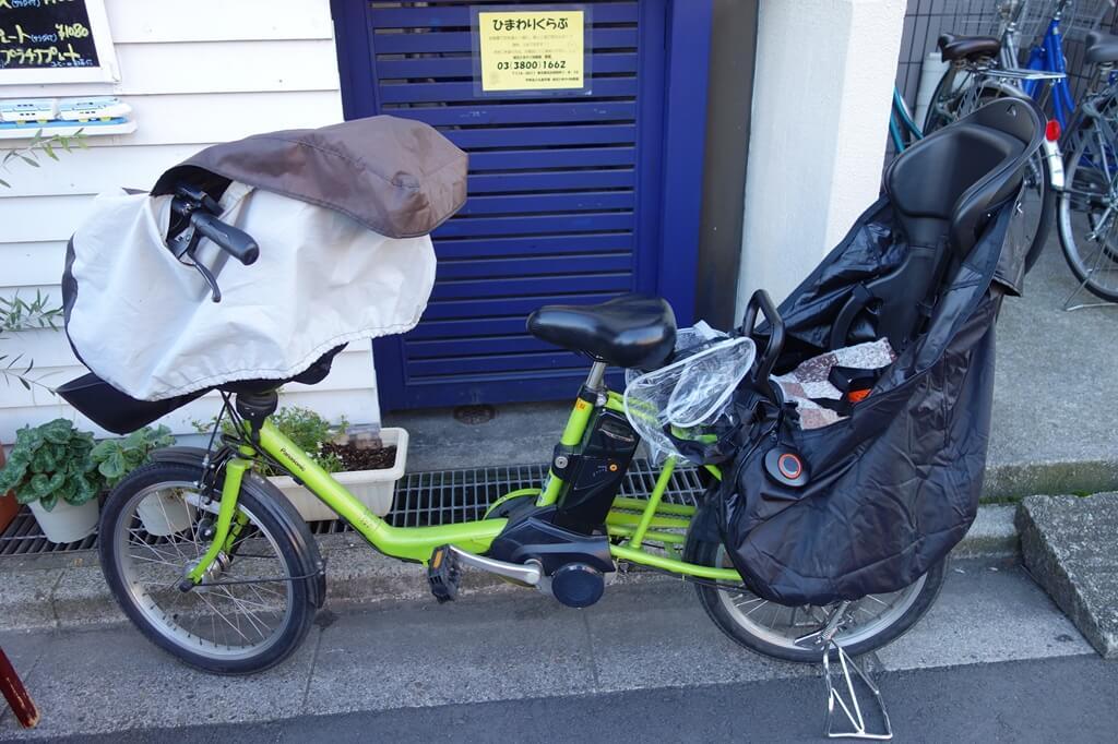 既にチャイルドシートが実装されている我が家の電動自転車