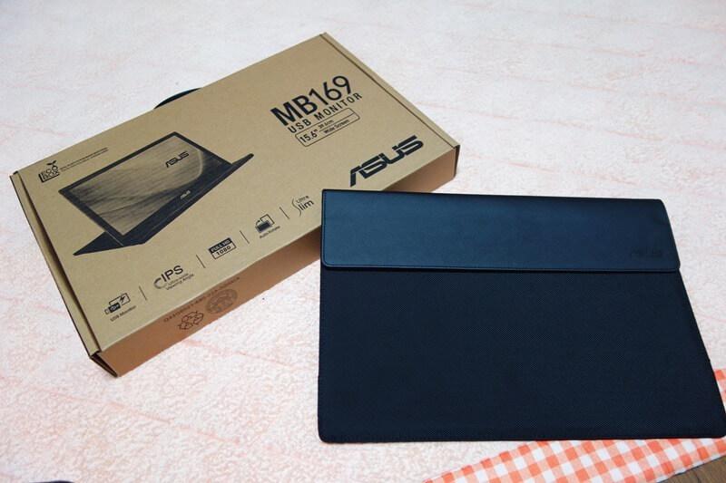 持ち運べるサブディスプレイMB169B+の梱包と同梱のケース