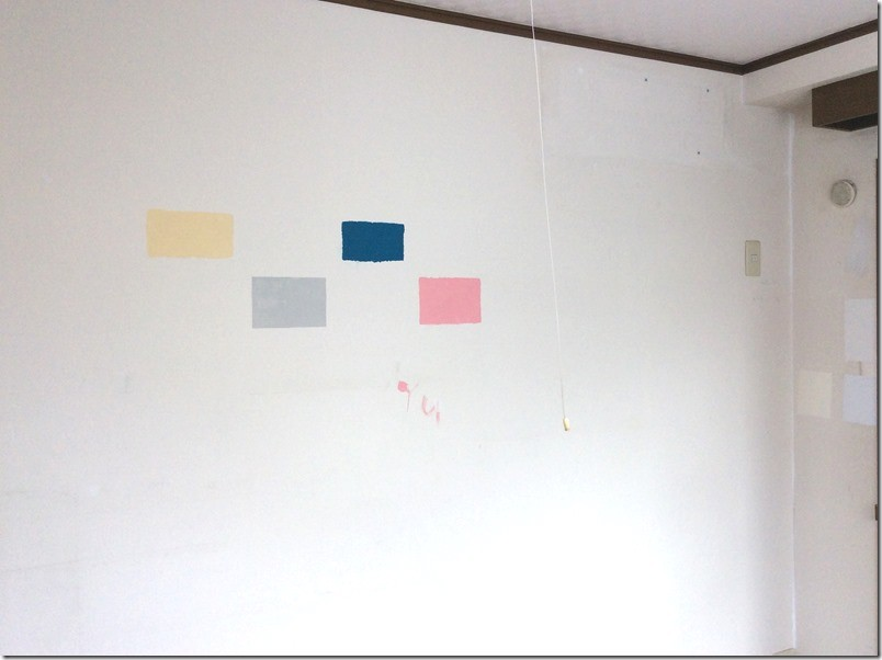 子供の落書き対策として壁を黒板化。まずは色選び。