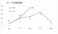 【月例報告】8月は46個と大幅上振れ!ゴーヤくんは下に伸び始める。